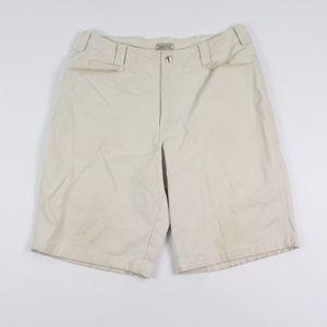 Vtg 90s Guess Mens 38 Spell Out Denim Shorts Tan